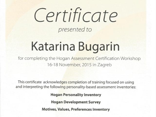 HOGAN certifikat_Katarina Bugarin